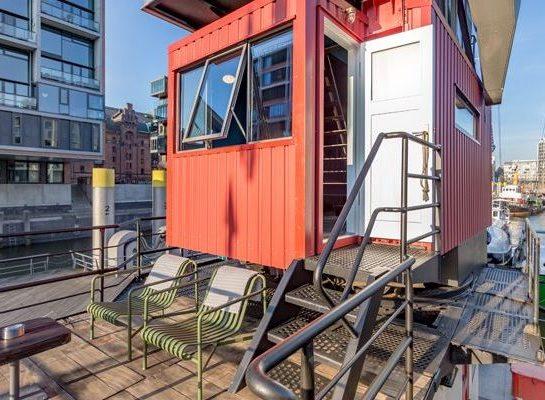 Hotel im Hafenkran - in der Hamburger Hafencity kann man seit 2018 in einem umfunktionierten Schwimm-Kran übernachten