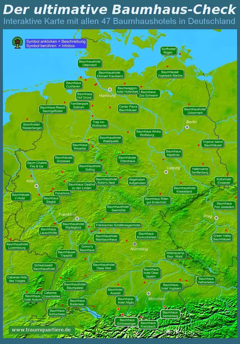 Lichtverschmutzung Karte 2019.Ubernachten Im Baumhaus 50 Baumhaushotels Im Check