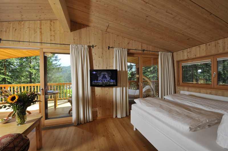 Schlafkomfort im Baumhaus des Hotel Kranzbach
