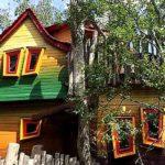 Mit Ausblick von zwei Balkonen lockt eine Übernachtung im Baumhaus Wipfelträumer
