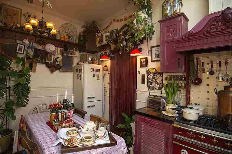 New Orleans Küche im Stil der 50er Jahre in Talliston House, Essex