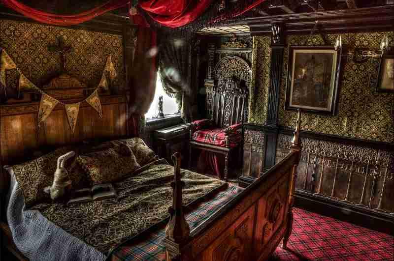 Einem echten Spukhaus würdig: Ansicht des Schlafzimmers von Talliston House