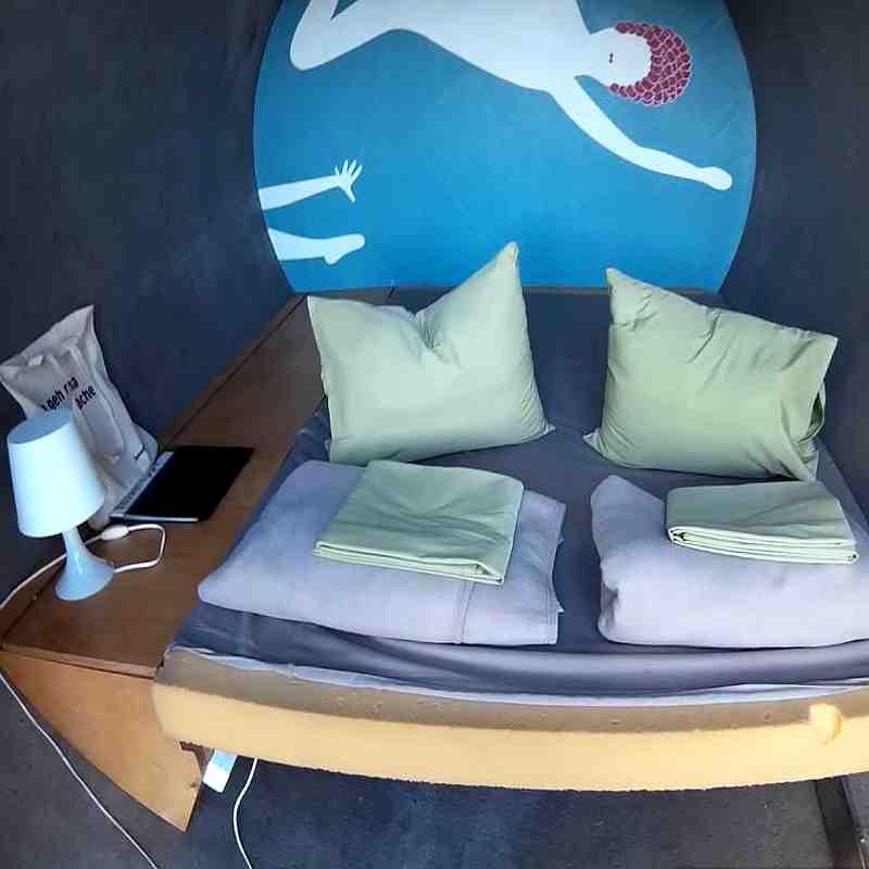 Schlafen im Kanalrohr - Hotel aus 5 Betonröhren im Ruhrgebiet, Ansicht Innen