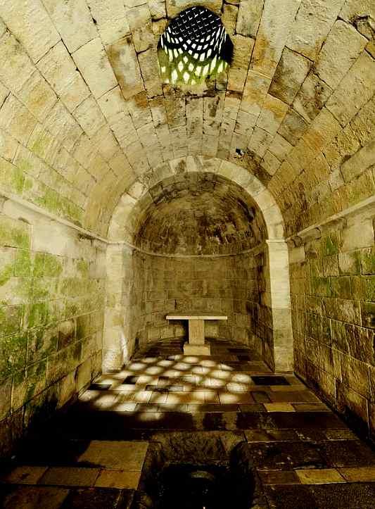 Kultraum der Tempelritter auf der österreichischen Burg Lockenhaus