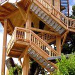 Baumhaushotels in Österreich: Treppenaufgang zum Baumhaus Prechtlhof in Kärnten
