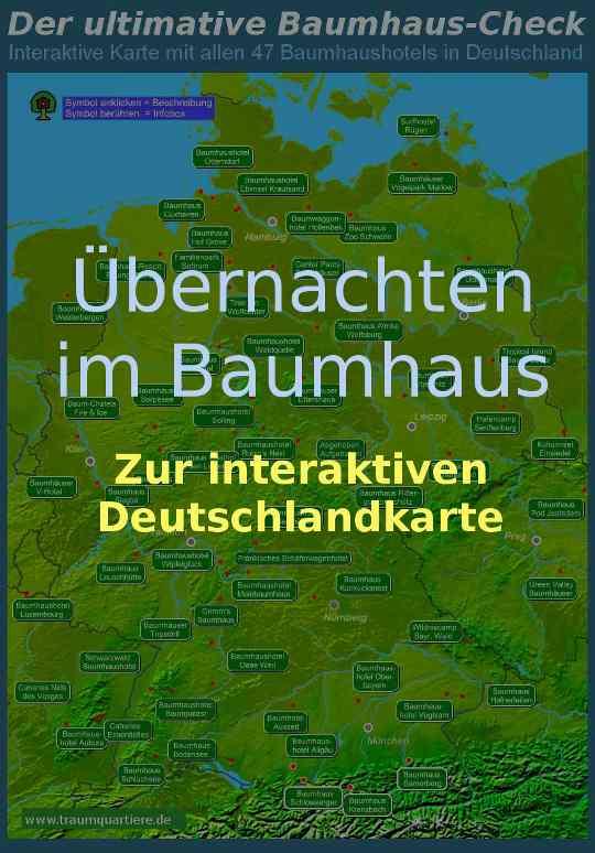 Übernachten im Baumhaus Deutschland Karte 2020