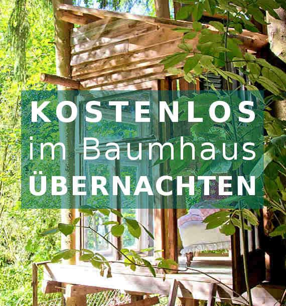 Kostenlos im Baumhaus übernachten, das ermöglicht das Rittergut Endschütz in Thüringen