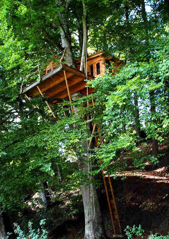 Das Hangab Zentrum im Bodenseekreis bietet auch ein Baumhaus zum Übernachten