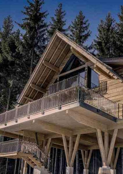 Das großzügig ausgestattete Stelzenhaus beim Hotel Gassner gilt als eines der jüngsten Baumhaushotels in Österreich
