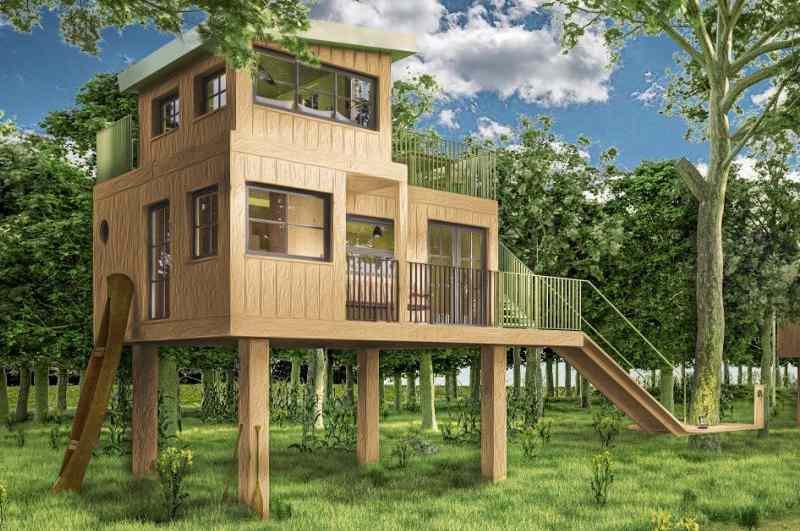 Mit drei geräumigen Baumhäusern ergänzt das Naturresort Land of Green die bestehenden Baumhaushotels in Niedersachsen.