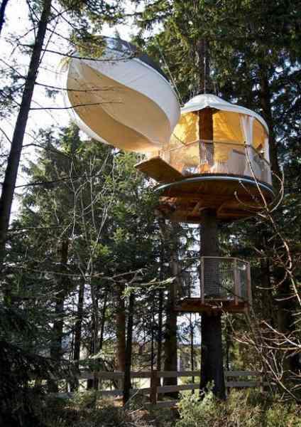 Abenteuerlicher als die meisten Baumhaushotels in Österreich: das Baumbett im Hochseilpark Böhmerwald