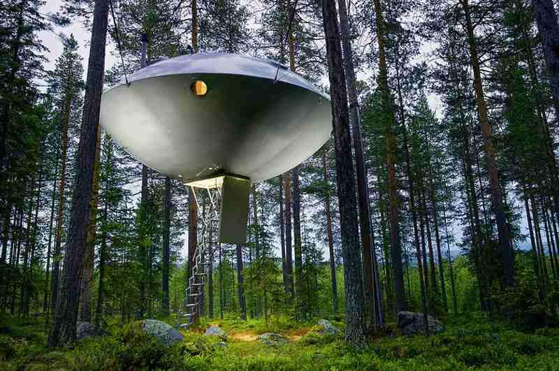 Baumhaushotel Treehouse Ufo in Harads, Schweden