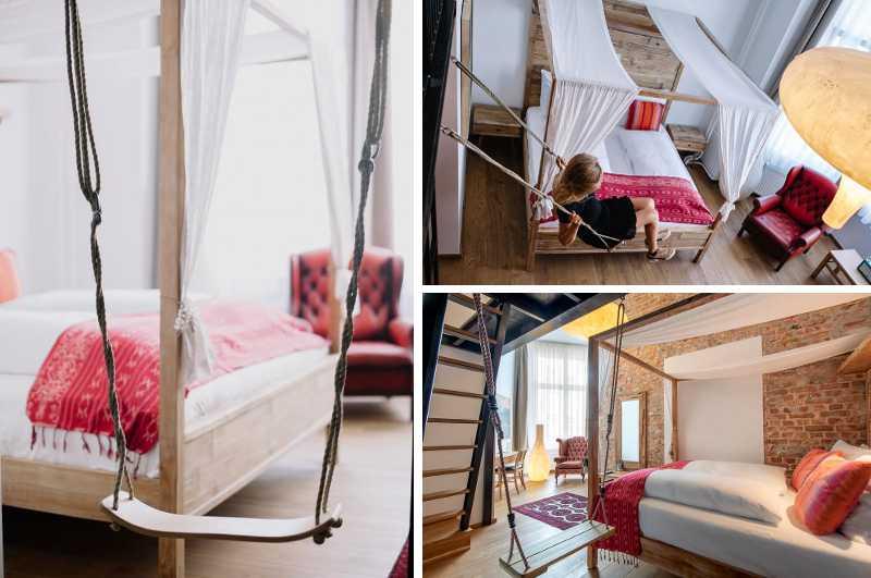 Kein ausschließliches Erotikhotel: das Lulu Goldsmeden Hotel in Berlin verfügt über Zimmer mit Schaukel