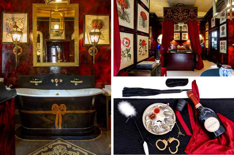 Hotel Blakes in London verfügt nicht nur über eindrucksvolle Suiten, sondern gilt auch als erstes Boutique-Hotel der Welt. Extravagant auch das Package Senses mit einem erotischen Love Kit