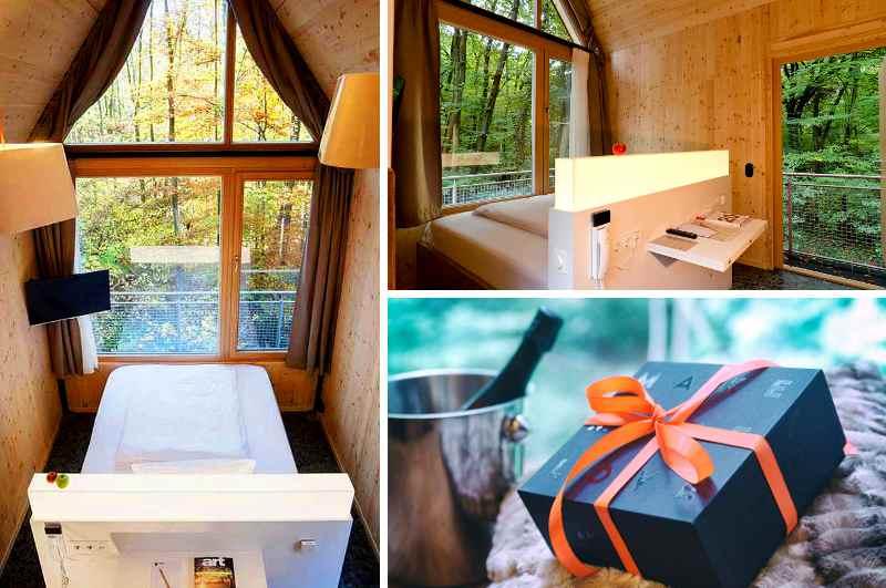 Mit der optional zubuchbaren Make More Love Box von Amorelie wird der Aufenthalt im Baumhaus des V-Hotels auf dem Bonner Venusberg zum erotischen Erlebnis für naturverbundene Paare