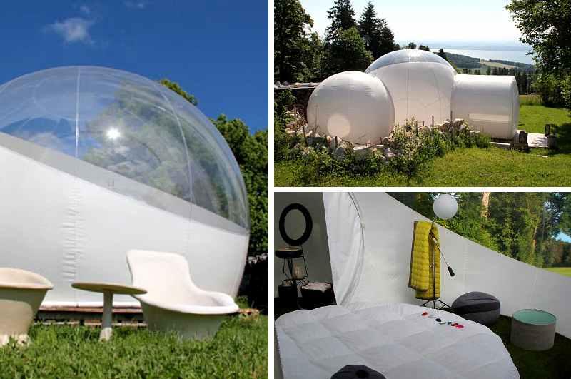 Das Schweizer Bubble Hotel La Bulle à la Prise in Montmollin verspricht neben Privatsphäre und Komfort auch intensive Naturerfahrungen
