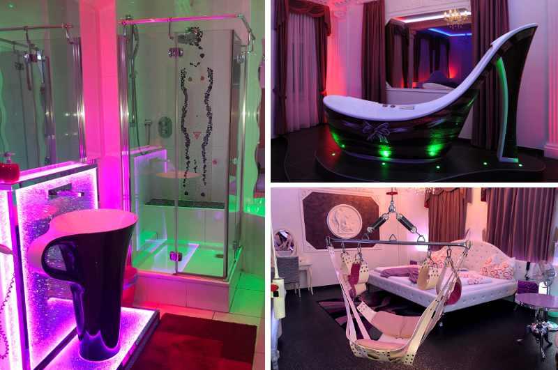 Das Cinderella Appartment in Wien ist eine von drei erotischen Suiten und beglückt seine Gäste mit einer High Heel Badewanne und einer bequemen Liebesschaukel