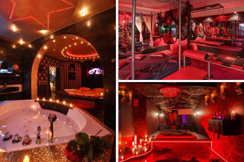 Erotikhotels in Deutschland: neben einem Whirlpool verfügt die luxuriöse Suite Deine Traumnacht in Frankfurt auch über ein Spielzimmer mit Liebesschaukel