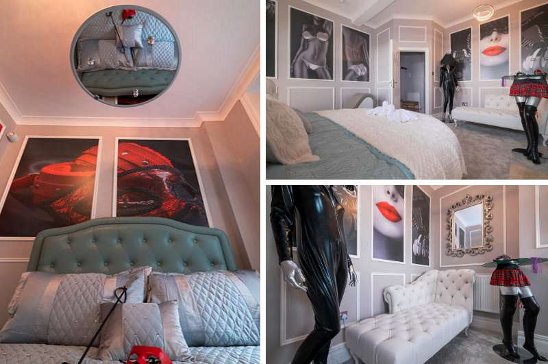 Erotikhotels in England: das SM Appartment Freds Flat in Brighton im Stil von Fifty Shades of Grey ist über Airbnb buchbar