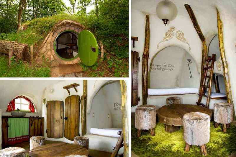 Eine gemütliche Hobbit Wohnung unter einem begrünten Hügel ist als Feriendomizil bei Gästen auf dem niederländischen Campingplatz Geversduin besonders beliebt