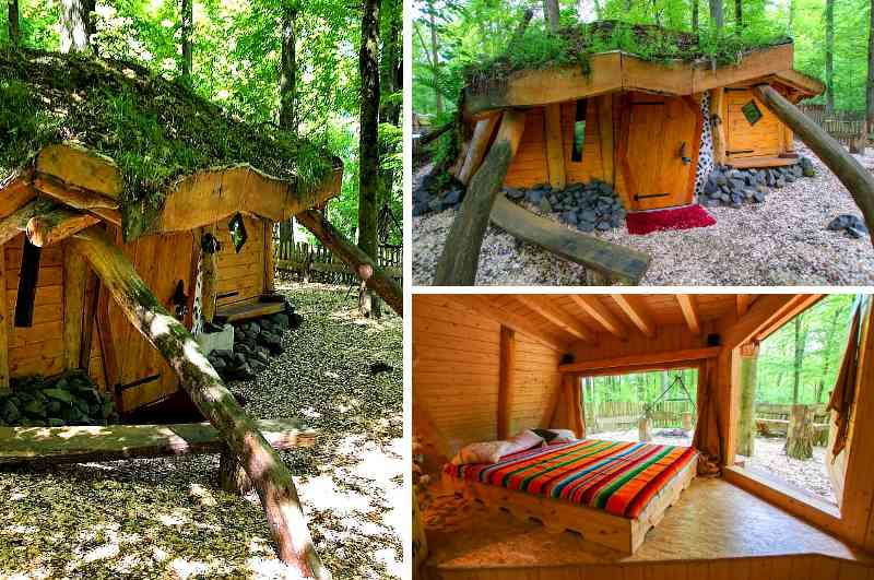 In Deutschland bieten die Erdhäuser im Outdoor Zentrum Lahntal in Hessen eine gute Gelegenheit, einmal im Hobbit Haus zu übernachten