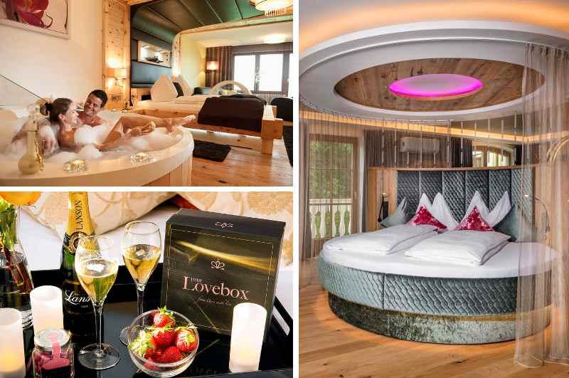 Neben aufregenden Suiten für Paare gehören auch Packages mit erotischem Betthupferl & Lovebox zum Angebot des österreichischen Erotikhotels Winzer