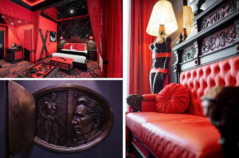 Dank seiner Sado-Maso-Suite darf das Grand Hotel Lviv in Lemberg als Geheimtipp unter den Erotikhotels gelten. Die SM-Suite mit Andreaskreuz ist Leopold Sacher-Masoch gewidmet, der einst in dem Gebäude lebte und wirkte.