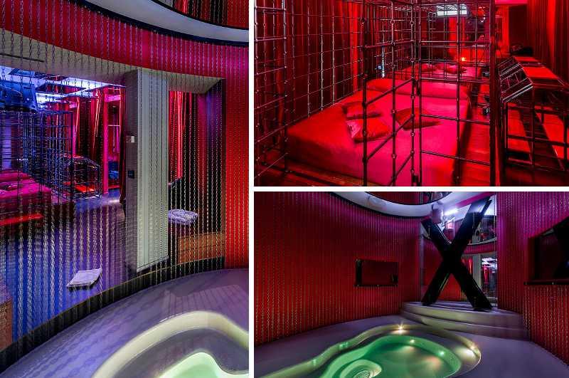 Des Moom Motel nahe Mailand gehört wegen seiner Secret Suite mit Bett-Käfig und Andreaskreuz zu den bizarrsten Erotikhotels in Italien