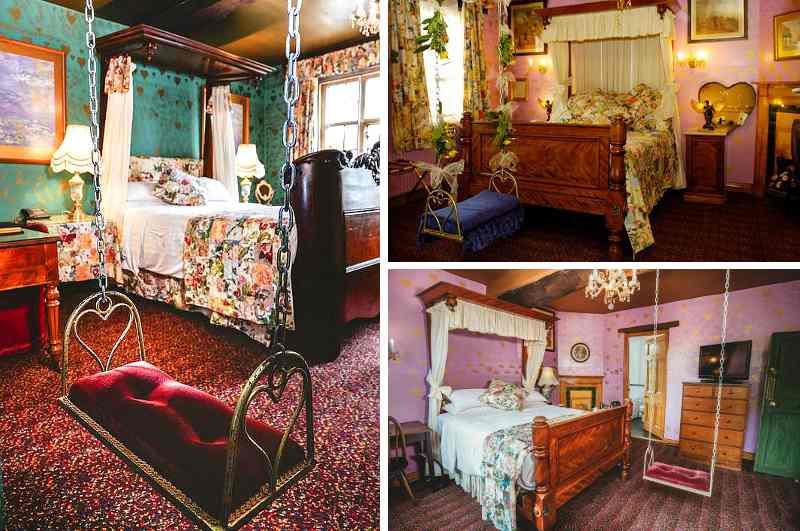 Das Hundred House Hotel in der englischen Grafschaft Durham zählt wegen seiner nostalgischen Zimmer mit Schaukel zu den eher untypischen Erotikhotels in Großbritannien