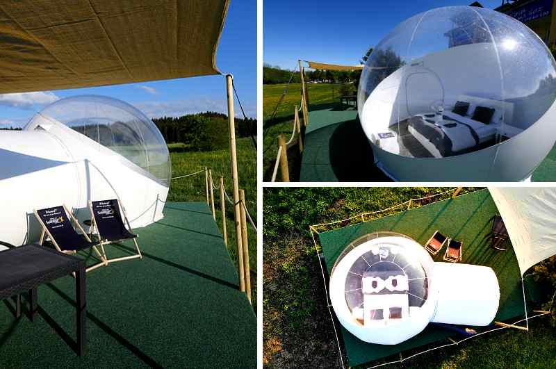 Glamping in Deutschland: verschiedene Ansichten  Schwarzwald Bubble Tent in Bad Dürrheim