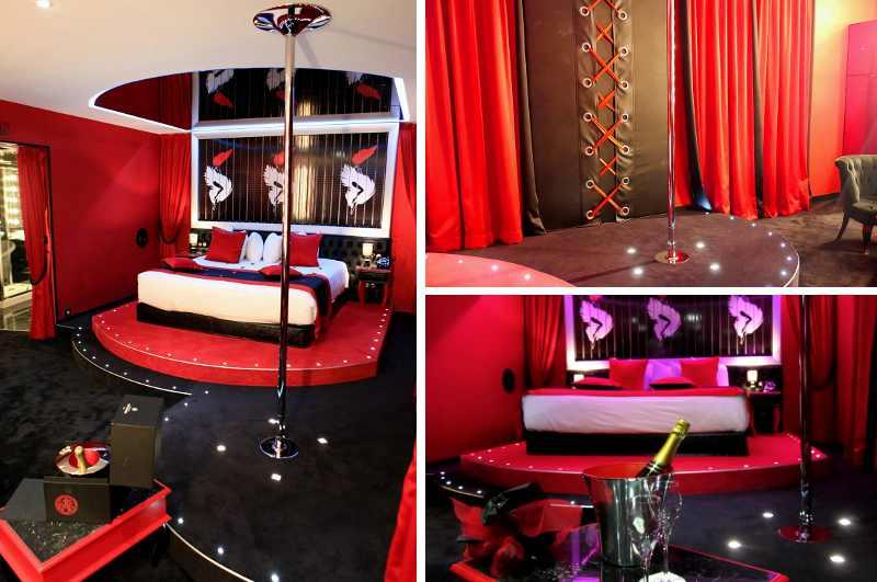 Das Seven Hotel in Paris ist zwar für Zimmer mit erotischer Ausstrahlung bekannt, doch nur die bühnenreife Cabaret Suite bietet ihren Gästen auch eine private Pole Dance Stange