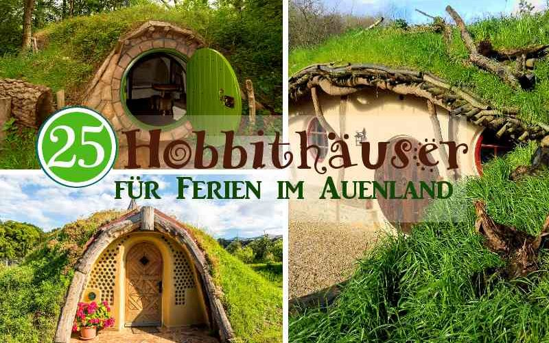 Coverbild Übernachten im Hobbit Haus mit drei Hobbithäusern für Ferien im Auenland