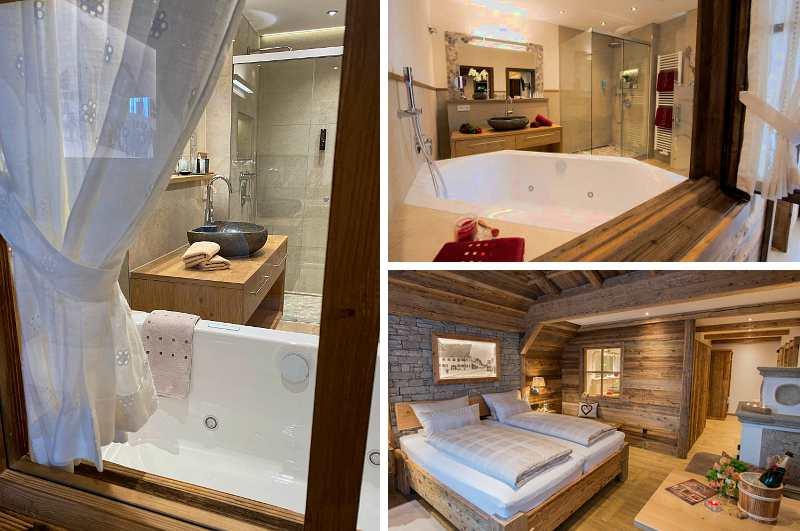 Rustikale Deluxe Zimmer mit Whirlpool und bayerischem Charme sind das Highlight im Gasthof Hotel Adler in Bad Wörishofen (Allgäu)