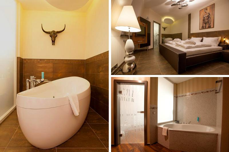 Im nördlichen Sachsen-Anhalt braucht das Hotel Aragon in Tangermünde mit seinem Design-Zimmer mit Whirlwanne keine Konkurrenz zu fürchten