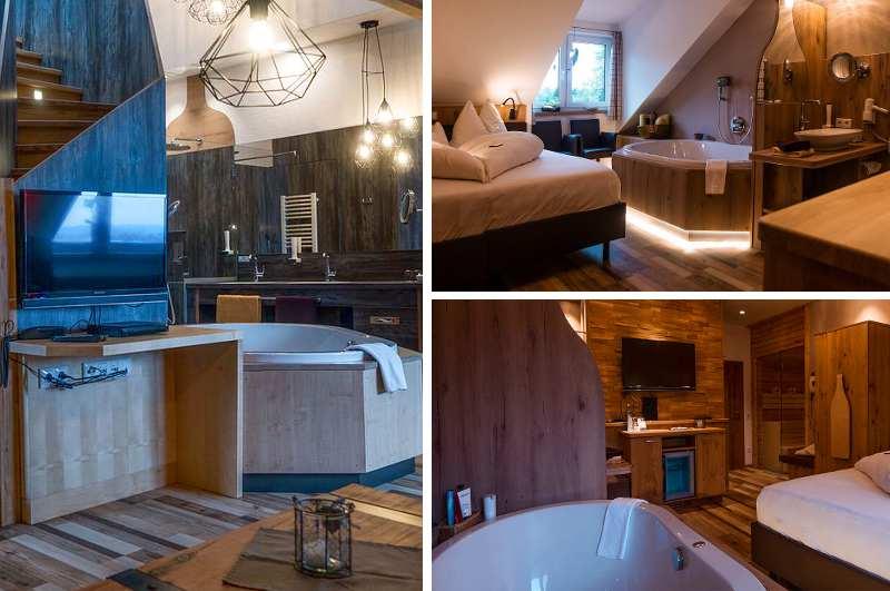 Hotelzimmer mit Whirlpool sind auch bei schwulen und lesbischen Gästen des Bierhotels Queer im niederbayerischen Gut Riedelsbach gefragt