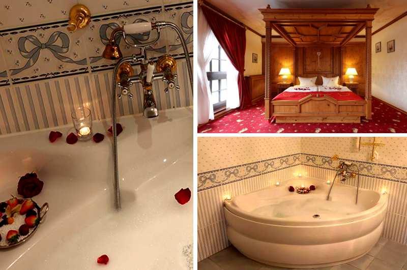 Die Hochzeitssuite im Burghotel Strausberg ist vielleicht das romantischste Hotelzimmer mit Whirlpool in ganz Brandenburg