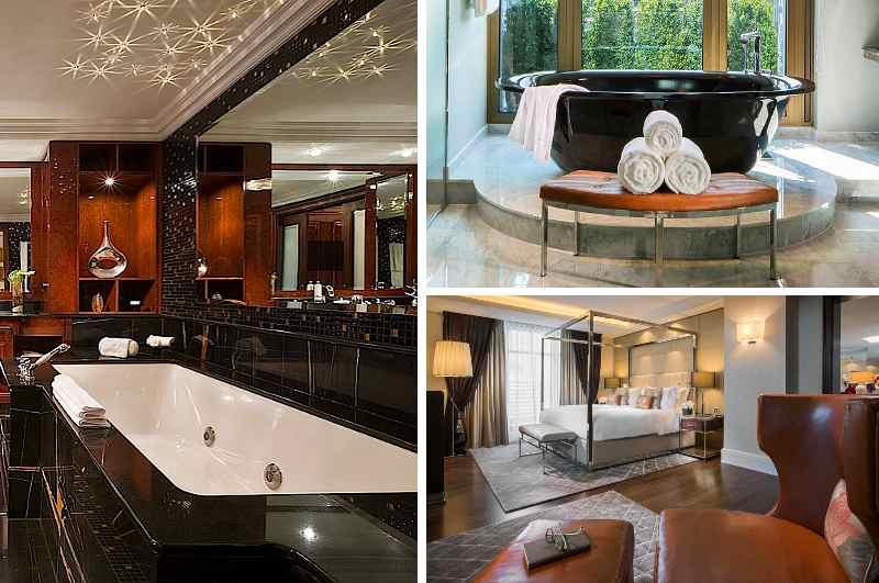 Mit 400 m² Fläche, zwei Bädern und einer Whirlpool-Wanne gehört die Royal Suite des Capella Hotels Breidenbacher Hof in Düsseldorf zu den drei größten Luxus-Suiten in Deutschland