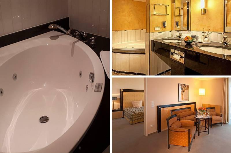 Als einziges Hotel in Halle (Sachsen-Anhalt) bietet das Dorint Hotel Charlottenhof auch Hotelzimmer mit Whirlpool.