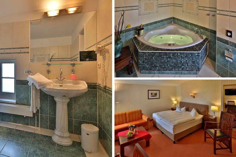 Die Suite mit Whirlpool im Schweriner Elefant Hotel ist nicht nur bei Hochzeitspaaren in Mecklenburg-Vorpommern beliebt.