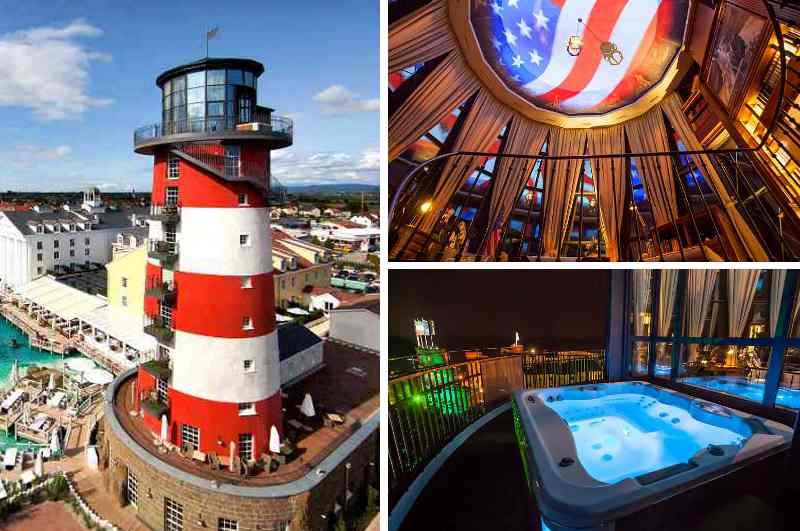 Die Präsidentensuite im Leuchtturm des Hotels Bell Rock verfügt sogar über einen Outdoor-Whirlpool mit Blick auf den Europapark