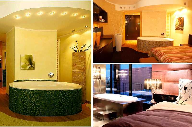 Die Junior Suiten im Hotel Atrium in Mainz zählen zu den beliebtesten Hotelzimmern mit Whirlpool in ganz Rheinland-Pfalz