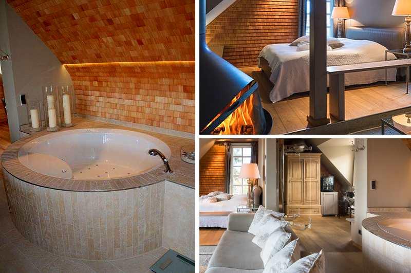 Mit Whirlpool im Zimmer, privater Sauna, Infrarotkamin und offenem Kamin lässt die exklusive Private Spa Suite des Hotels Fleesensee Resort in Göhren-Lebbin kaum Wünsche offen