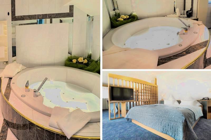 Für ein Hotelzimmer mit Whirlpool ist der Preis für die geräumige Suite im Hotel Hennedam in Meschede auch über NRW hinaus sehr günstig.