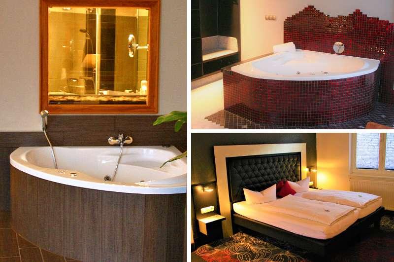 Die beiden Hotelzimmer mit Whirlpool im Wellness Hotel Tanne in Ilmenau stehen nicht nur bei Gästen aus Thüringen hoch im Kurs.