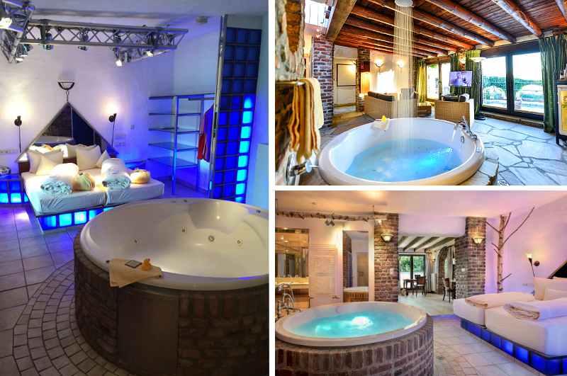 Mit drei Wellness Suiten gehört das Landgut Höhne in Mettmann zu den wenigen Anbietern in NRW, die über Hotelzimmer mit Whirlpool und eigener Sauna verfügen