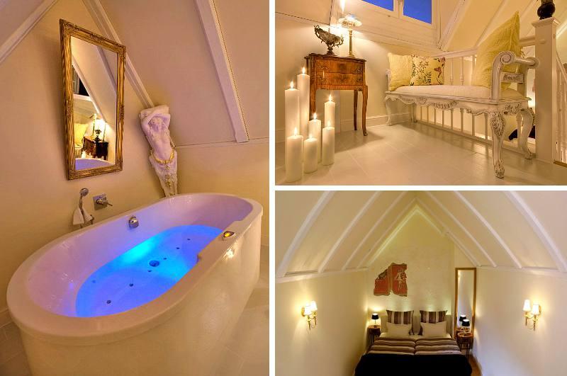 Die Hochzeits-Suite mit Whirlpool-Wanne im Ehehäusl Amberg gilt laut dem Guinnessbuch der Rekorde über Bayern hinaus als schmalstes Hotelzimmer der Welt.