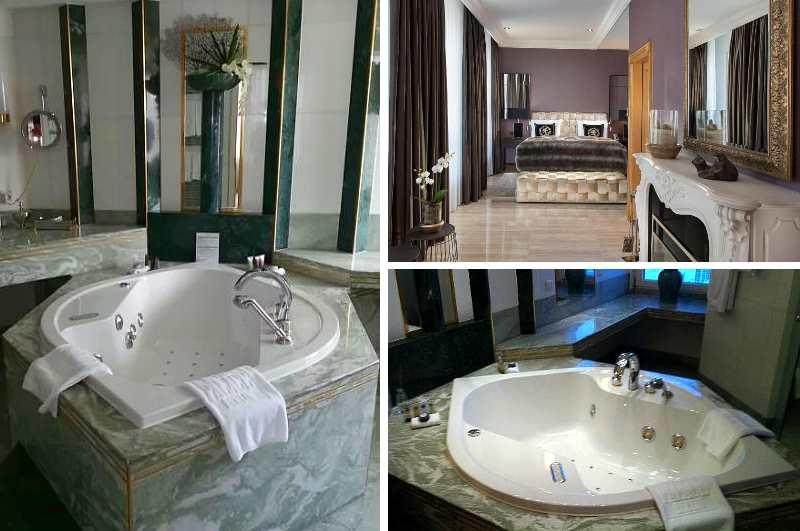 Die Royal Suite des Hotels Palace Berlin verwöhnt mit einem großzügigen Whirlpool im Badezimmer
