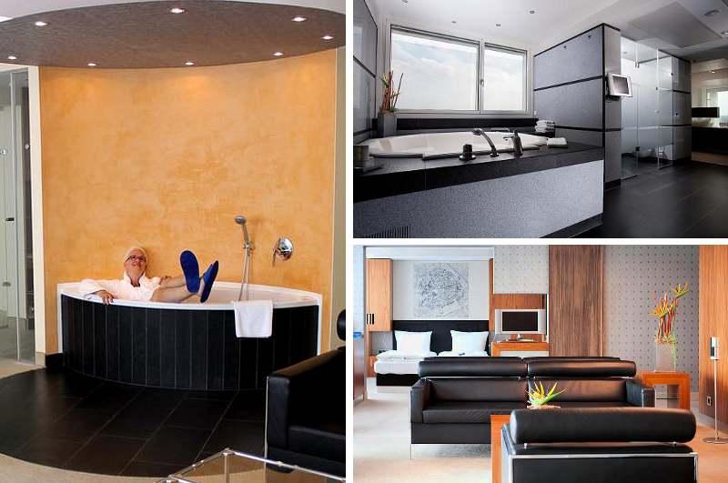 Luxuriöse Hotelzimmer mit Whirlpool wie die Präsidentensuite im Radisson Blu Hotel Erfurt gehören in Thüringen noch zur Ausnahme