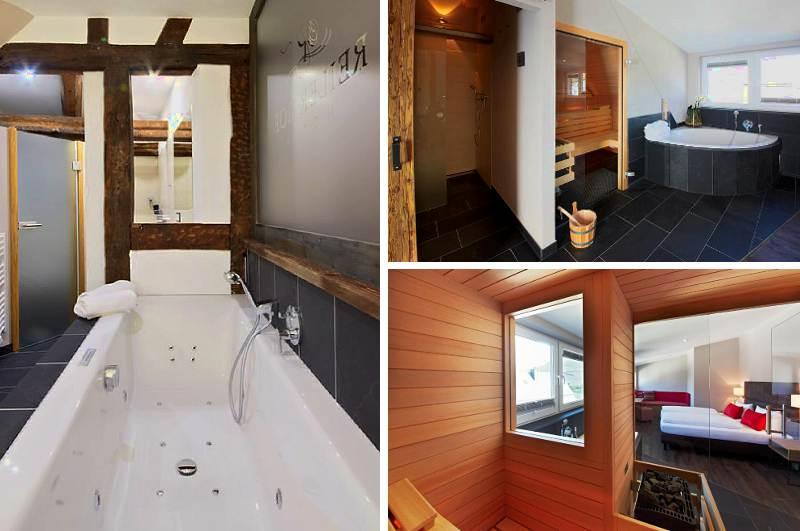 Wer in Rheinland-Pfalz nach einem Hotelzimmer mit Whirlpool und Sauna sucht, hat im Hotel Reiler Hof an der Mosel gleich drei davon zur Auswahl.