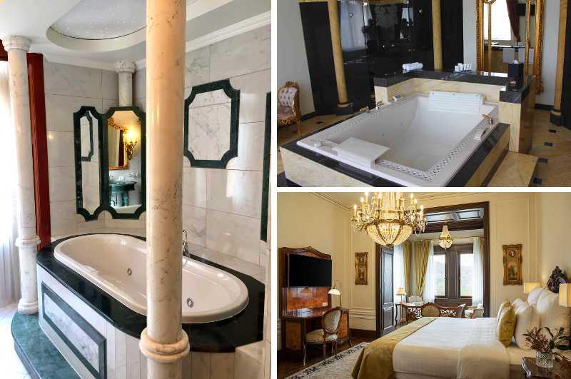Direkt an der Mosel gelegen, bietet das luxuriöse Schlosshotel Lieser gleich mehrere Suiten und Zimmer mit Whirlpool oder Whirlwanne